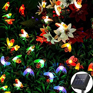 Guirnalda Luces Exterior Solar, Cadena de Luces 5M0 20 LED/6,5M 30 LED, 8 Modos de Luz, Decoración para Navidad, Fiestas, Bodas, Patio, Dormitorio Jardines, Festivales: Amazon.es: Bricolaje y herramientas