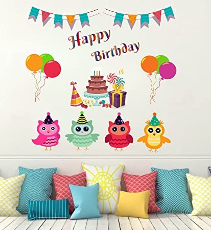 3dae254e8eb Buy Wallstick  Happy Birthday  Wall Sticker (Vinyl