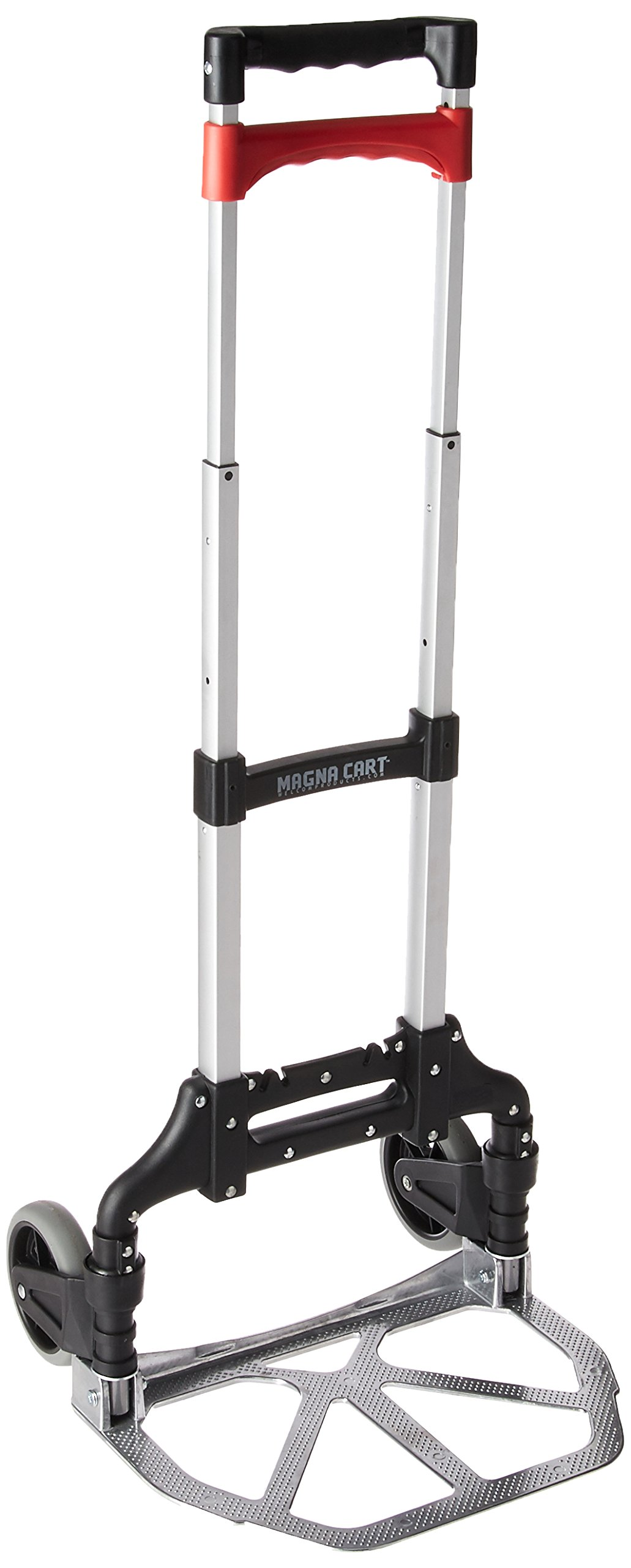Magna Cart Personal 150 lb Capacity Aluminum Folding Hand Truck (Black/Red) by Welcom