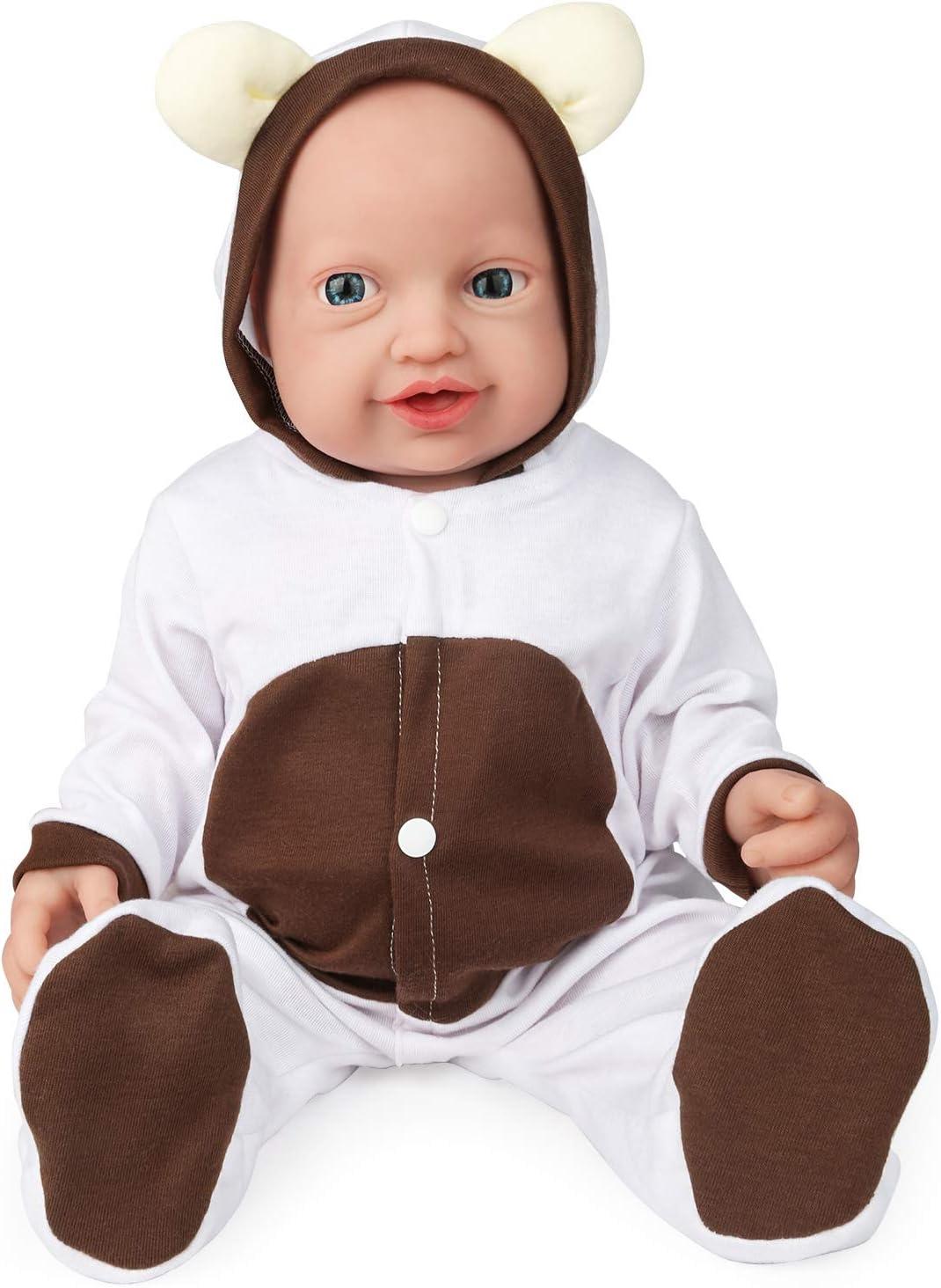 23/'/' Handmade Lifelike Newborn Full Body Silicone Vinyl Reborn Gift Baby Dolls