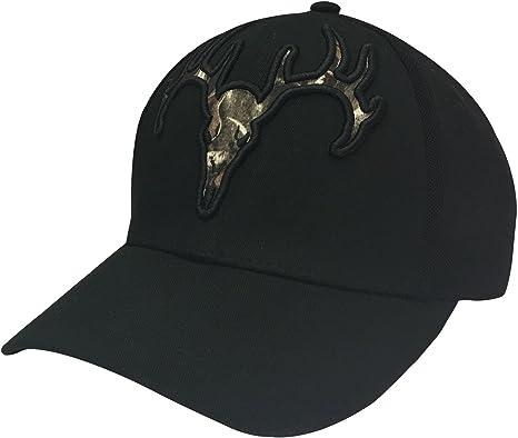 d60e185c646 Amazon.com  Field   Stream Men s Stretch Fit Tonal Deer Skull Hat ...