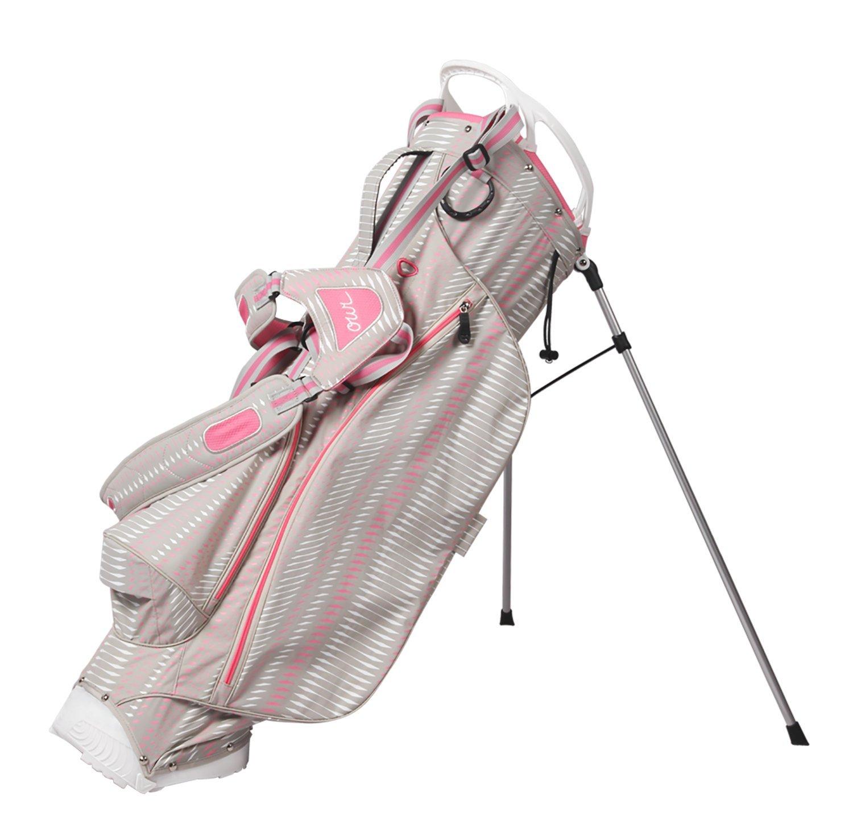 ouul Pythonスーパーライトスタンドバッグ  Warm Grey/White/Pink B01N2REQSR