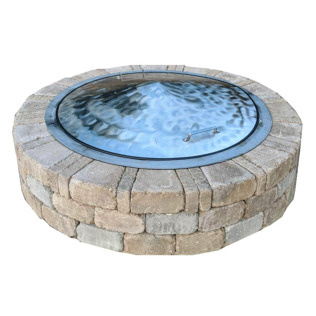 Higley Welding Minnesota Stainless Steel Metal Fire Pit Cover Lid Top 39'' OD Swirl Finish by Higley Welding Minnesota