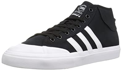 adidas Originals Men s Matchcourt Mid Running Shoe Black White 5b8cf5edb