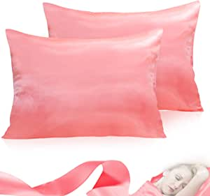 2x Silk Satin Soft Pillow Case Standard Bed Cushion Cover Multicolor Pillowcase