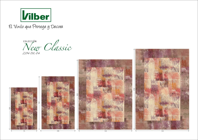 Rojo 153x200x0.2cm Vinilo Vilber New Classic Alfombra