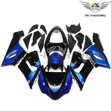 NT FAIRING Fit for Kawasaki Ninja ZX6R 636 2005 2006 Black Blue Injection Molded Fairings Kit Body Kit Bodywork Plastic Bodyframe
