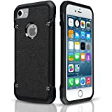 iPhone 7 Case,Premium Armor TPU Frame Shockproof Protective Case Scratch Resistant Fit Thin and Slim PC Hard Panel for Apple iPhone 7 (4.7'')(2016) -- Black …