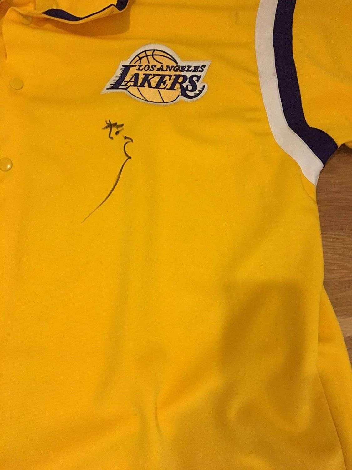 a80162a3ca0 Kobe Bryant Autographed Signed Los Angeles Lakers Warm Up Jersey  Memorabilia JSA Certificate at Amazon s Sports Collectibles Store