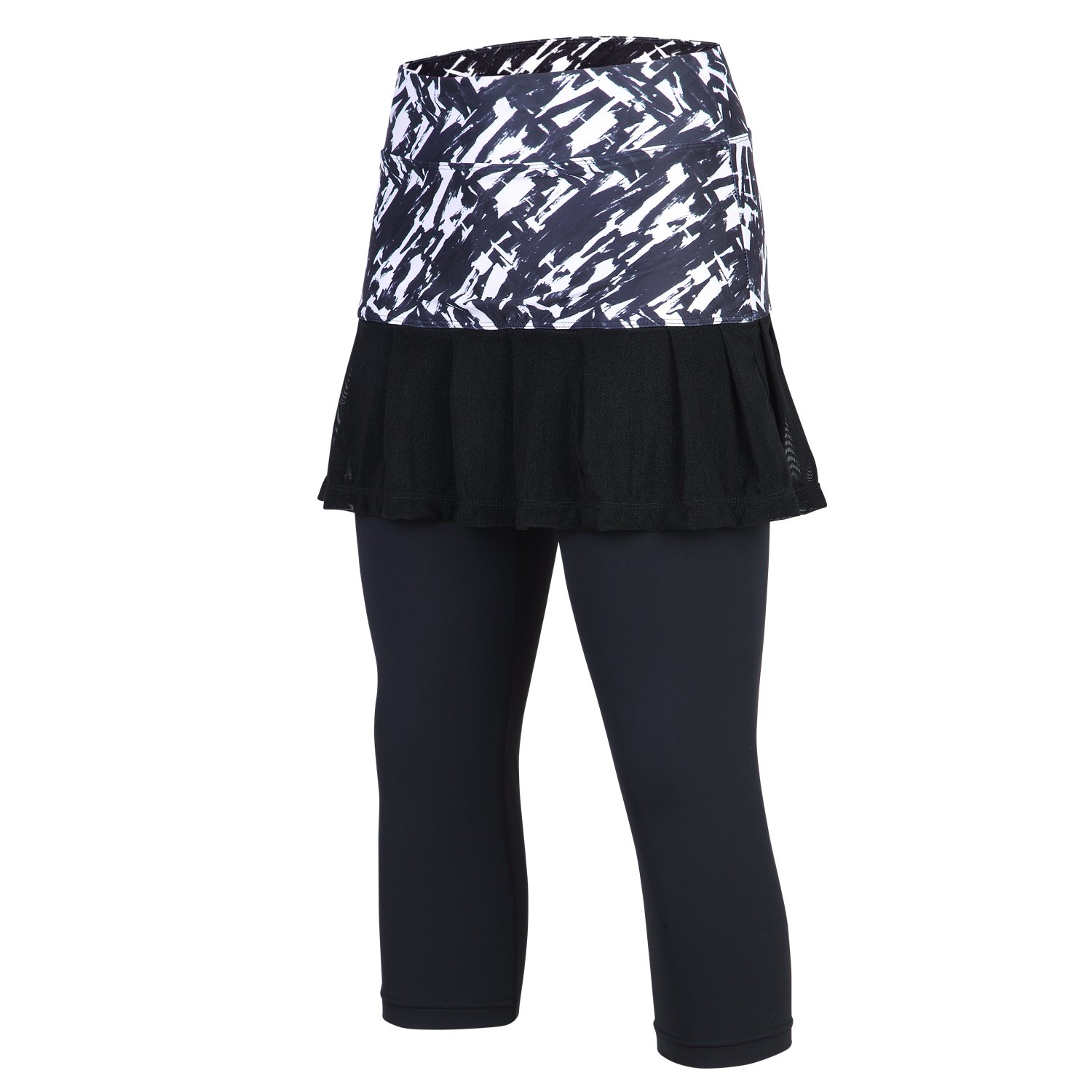 4f88782a50afff ➊3/4 or Full Length Legging + Printed Skirted: Skorts with 3/4 or full  length leggings. Combine various color printed fabric and Non-see through  material.