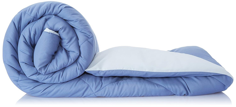 Amazon Brand – Solimo Microfibre Reversible Comforter, Single (Stone Blue & Silver Grey, 200GSM)