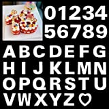 12inch Alphabet Cake Stencils Letter Stencil A-Z 26Pcs,0-9 Number Cake Templates 10Pcs with a Heart Mold for Birthday Wedding