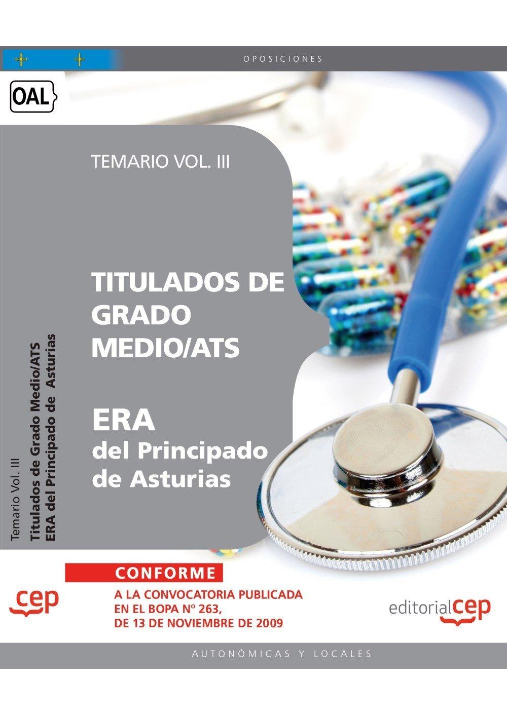Titulados de Grado Medio/ATS ERA del Principado de Asturias. Temario Vol. III. ebook