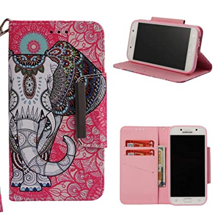 Firefish Galaxy A5 2017/A520 Case,Premium 3D Printing PU Leather Fashion Folio Card Holder Case Magnetic Closure Anti Sliding Shockproof for Girls for ...