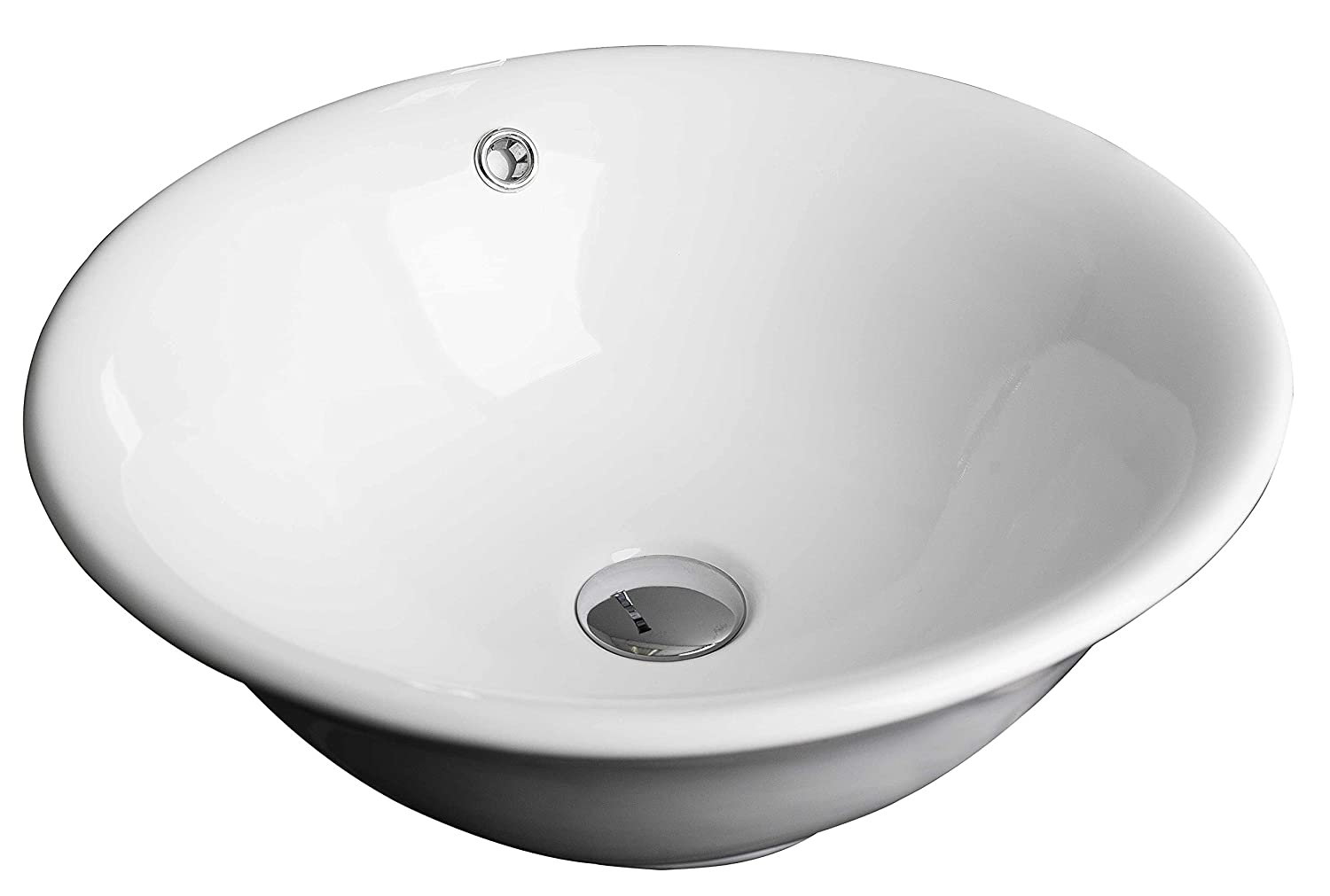 18-in. W x 18-in. D Above Counter Round Vessel In White Color For Deck Mount Faucet IMG Imports Inc. AI-7-1306