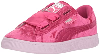 reputable site ba38c 34535 PUMA Basket Heart Patent Kids Sneaker