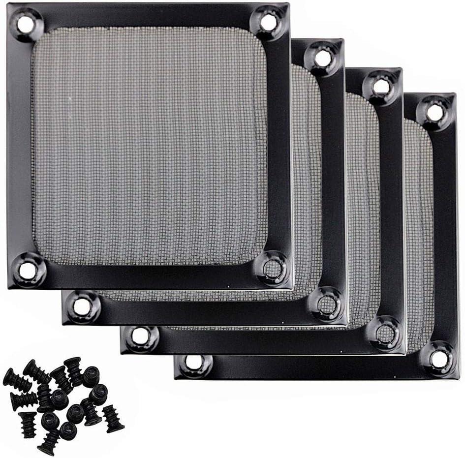 PC Fan Dust Filter Wathai 4 Pack 80mm Computer Fan Filter Grills Fan Filter Dust Filter