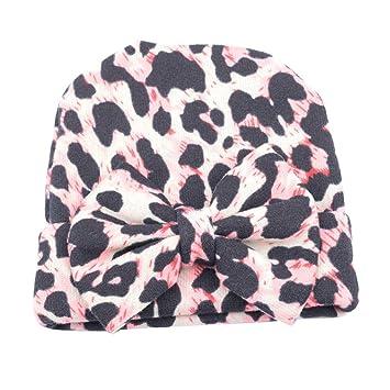 TININNA Bonnets Coton Crochet Papillons Léopard Chapeau Unisexe Bébé Garçon  Fille Naissance Tricot Hat Cap 0 6243773e933