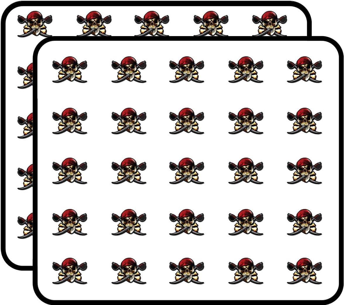 #207S Halloween Pirate Skull Dice Crossbone Children Craft Scrapbooking Stickers