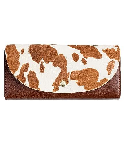 bdd0fa7e083f MIRACOLO 財布 二つ折りフラップ 長財布 大容量 ハラコ&イタリアンレザー 本革 牛革