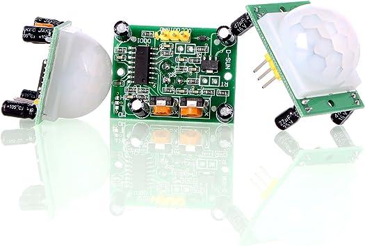 5x Module d/étecteur de Mouvement infrarouge pyro/électrique PIR