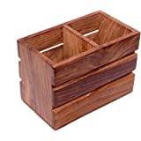 Fancy shoppeeWooden Kitchen Utensil Holder Wooden Cutlery Holder/Pen Holder/Pen Stand/Storage Box Multipurpose Stand