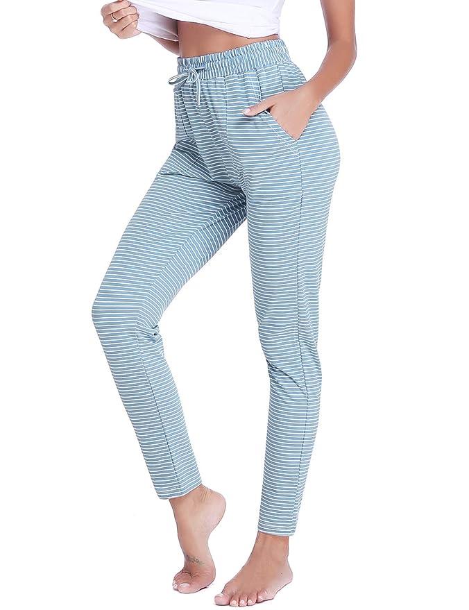 Aibrou Pantalones de Pijama Mujer Invierno Pantalón Largo Algodón de a Rayas Otoño: Amazon.es: Ropa y accesorios