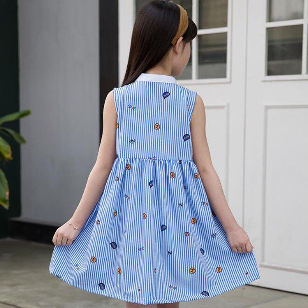2087e3d24c3e8 Amazon   AKSSWEET 女の子 ワンピース ドレス かわいい子供洋服 誕生日 入学式 子供の日 三五七 遊園地 演奏会に  (140cm(身長120-130cm))   フォーマル 通販