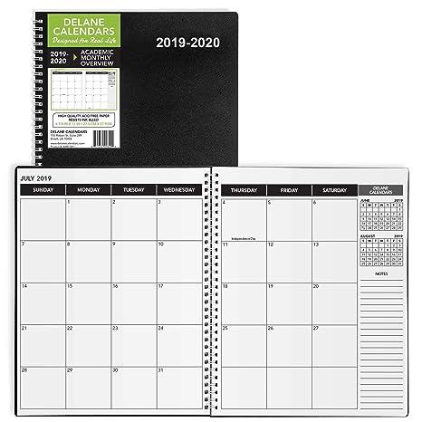 Amazon.com: Planificador académico 2019-2020, 8.5 x 11.0 in ...