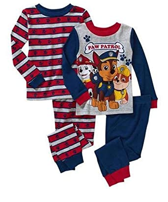 Nickelodeon Paw Patrol Boy 4PC Long Sleeve Tight Fit Cotton Pajama Set Size 5T