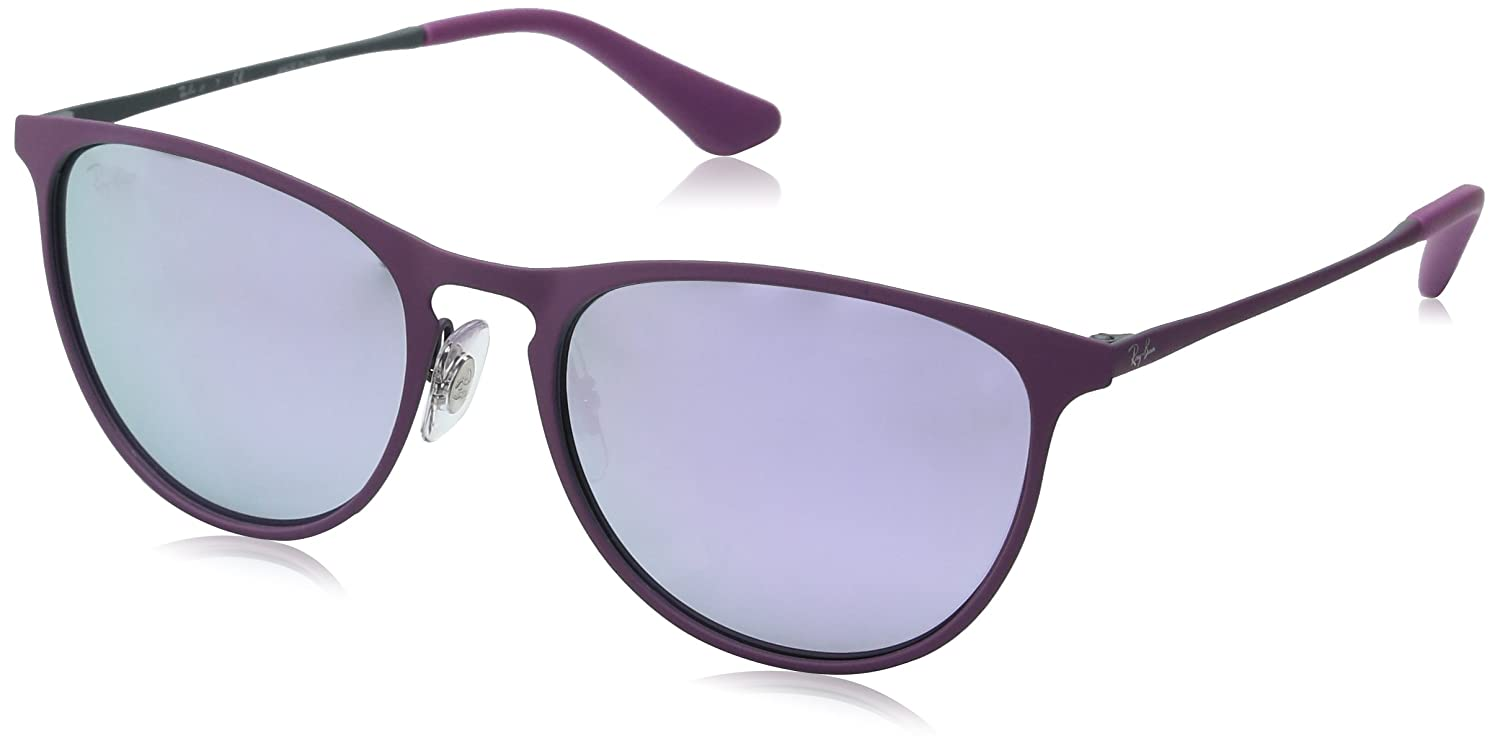 RAY-BAN JUNIOR 9538s Gafas de sol, Rubber Grey/Pink, 50 Unisex-Niño