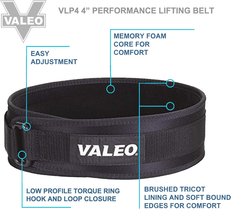 "Valeo 4/"" Performance Low Profile Weight Lifting Belt XL"