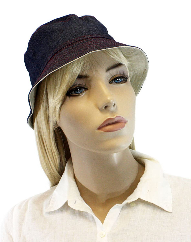 Reversible NaturalBlue Bucket hat for Women for Women--hat 3