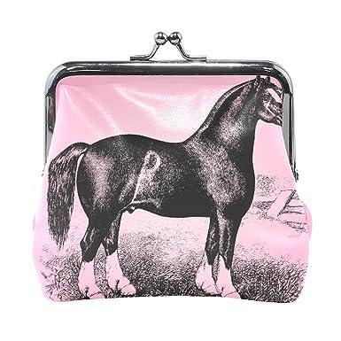 Amazon.com: Monedero vintage con diseño de caballo y ...