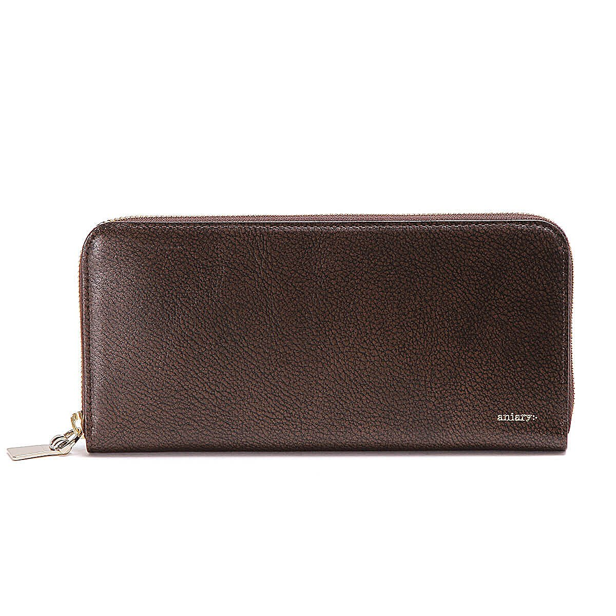 アニアリ 長財布 ラウンドL Zip Bill Holder Grind Leather 15-20003 B07DT4Z5MQ ブラウン ブラウン