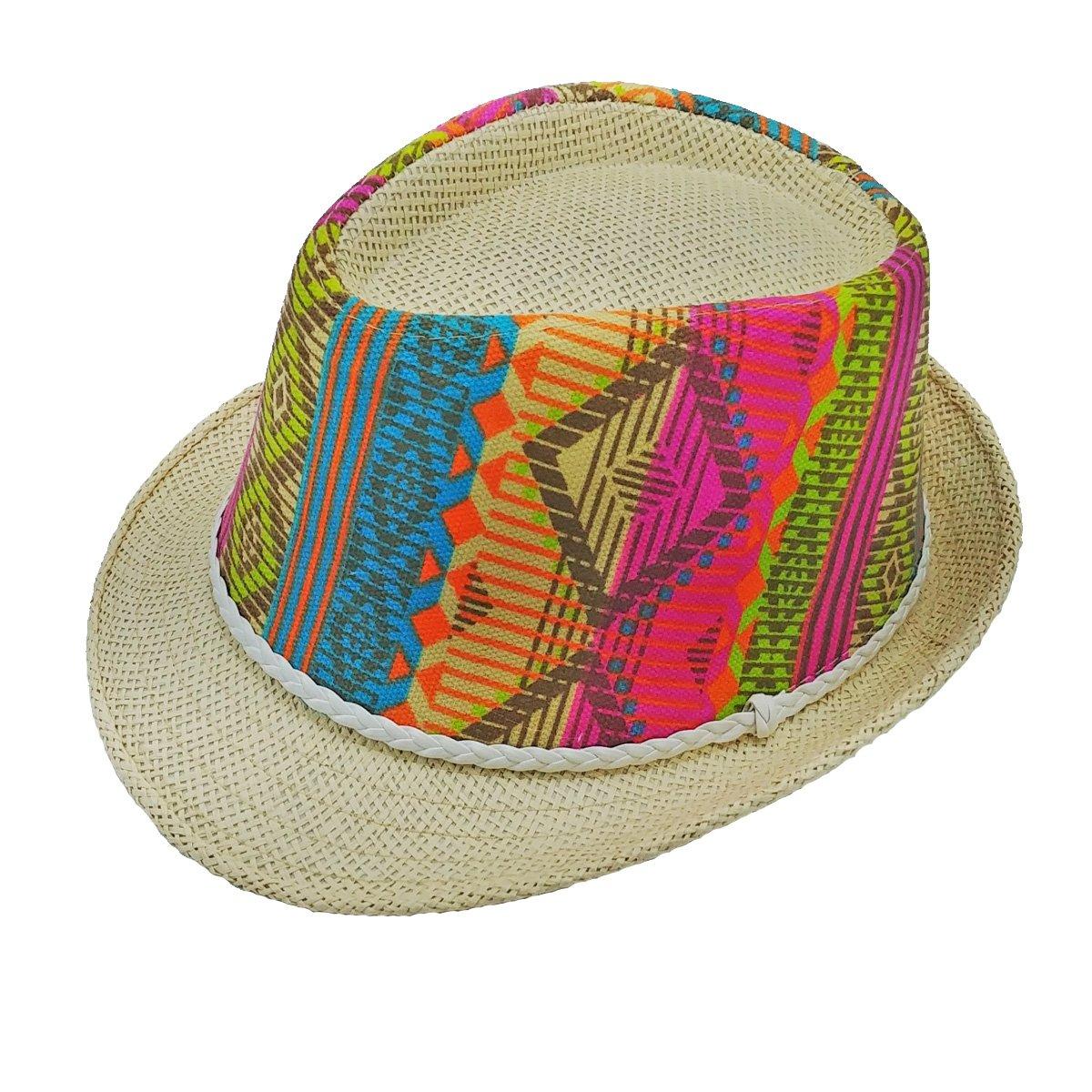 Short Brim Folk Series Designer Straw Fedora Hats