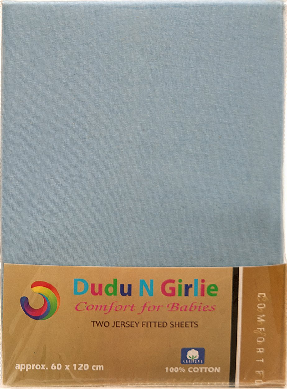 Dudu N Girlie Cotton Jersey Mini Cot Fitted Sheets, 50 cm x 10 cm, 2-Piece, Cream/Yellow Dudu N Girlie Limited B01N0D9TT3