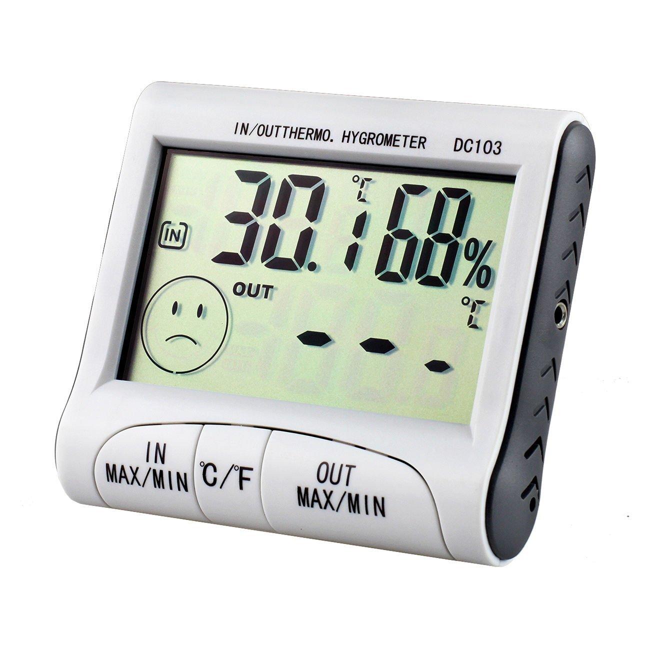 Karen Low New!! LCD Digital Digital Alarm Clock Thermometer and Hygrometer Temperature Humidity Meter C or F