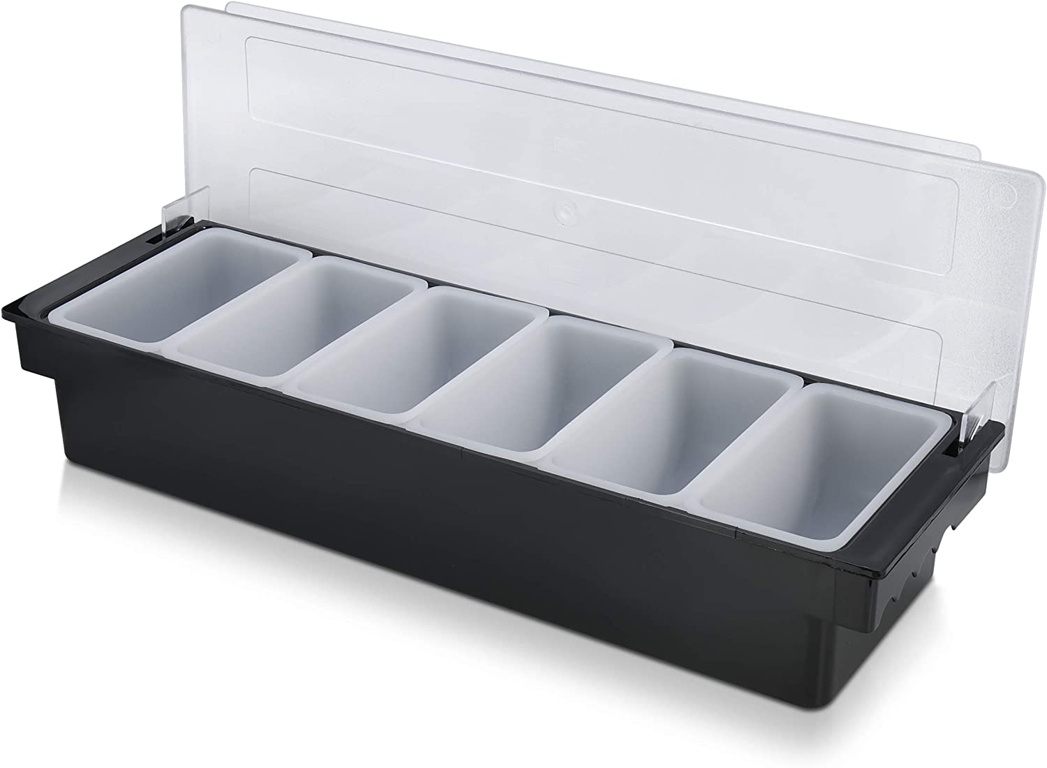 Simpli-Magic 79241 Condiment Holder and Dispenser with 6 Compartments, Large, Black