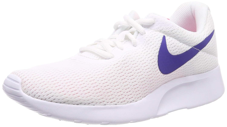 Nike Wmns Tanjun, Zapatillas para Mujer, 40 EU|Blanco (White/Concord-laser Pink 103)