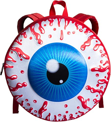 Kreepsville Eyeball Backpack Red