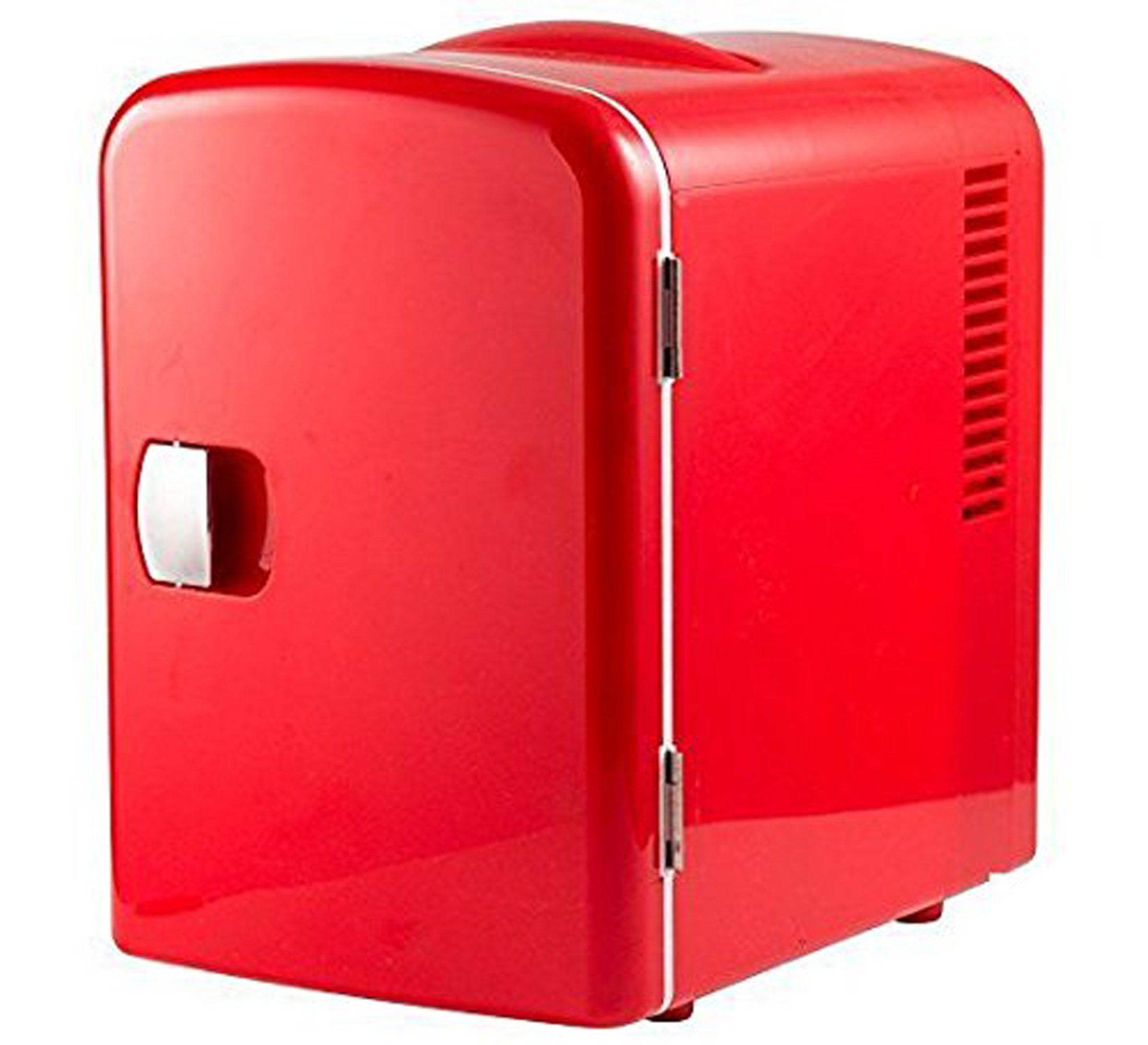 Gourmia GMF600 Thermoelectric Mini Fridge Cooler and Warmer - 4 Liter/ 6 Can - For Home,Office, Car, Dorm or Boat - Compact & Portable - AC & DC Power Cords - Red