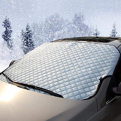 Auto Sunshade Cover Auto Schnee Eis Sonnenschutz Shield Winter Windschutzscheibe Visier Auto Fensterscheibe Sonnenlicht Staubschutz Farbe 187x95cm Küche Haushalt
