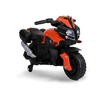 LT875 Motocicleta eléctrica para niños MOTO SPEED con luces y sonidos realistas - Naranja: Amazon.es: Juguetes y juegos