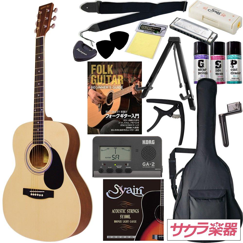 HONEY BEE アコースティックギター フォークギタータイプ F-15M/N マットフィニッシュモデル 初心者入門16点セット B00JJIM4QC マットフィニッシュ/ナチュラル