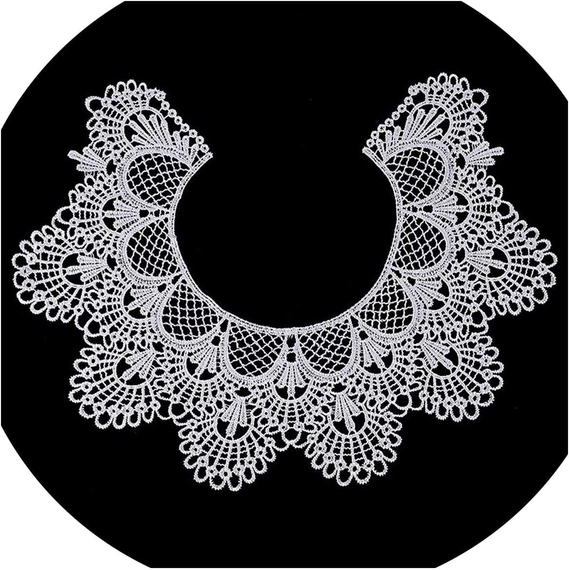 Runfon Cut-Out Lace Collar Lace Border Lace Decoration Dress Sewing DIY Flower Lace Decoration Embroidered Black Guipure Wedding Lace Patches/ /100/% Brand New