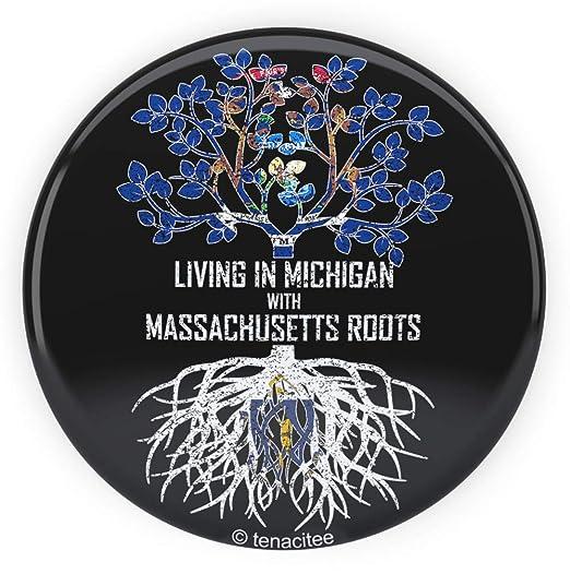 Tenacitee Babys Living in Michigan Massachusetts Roots Shirt