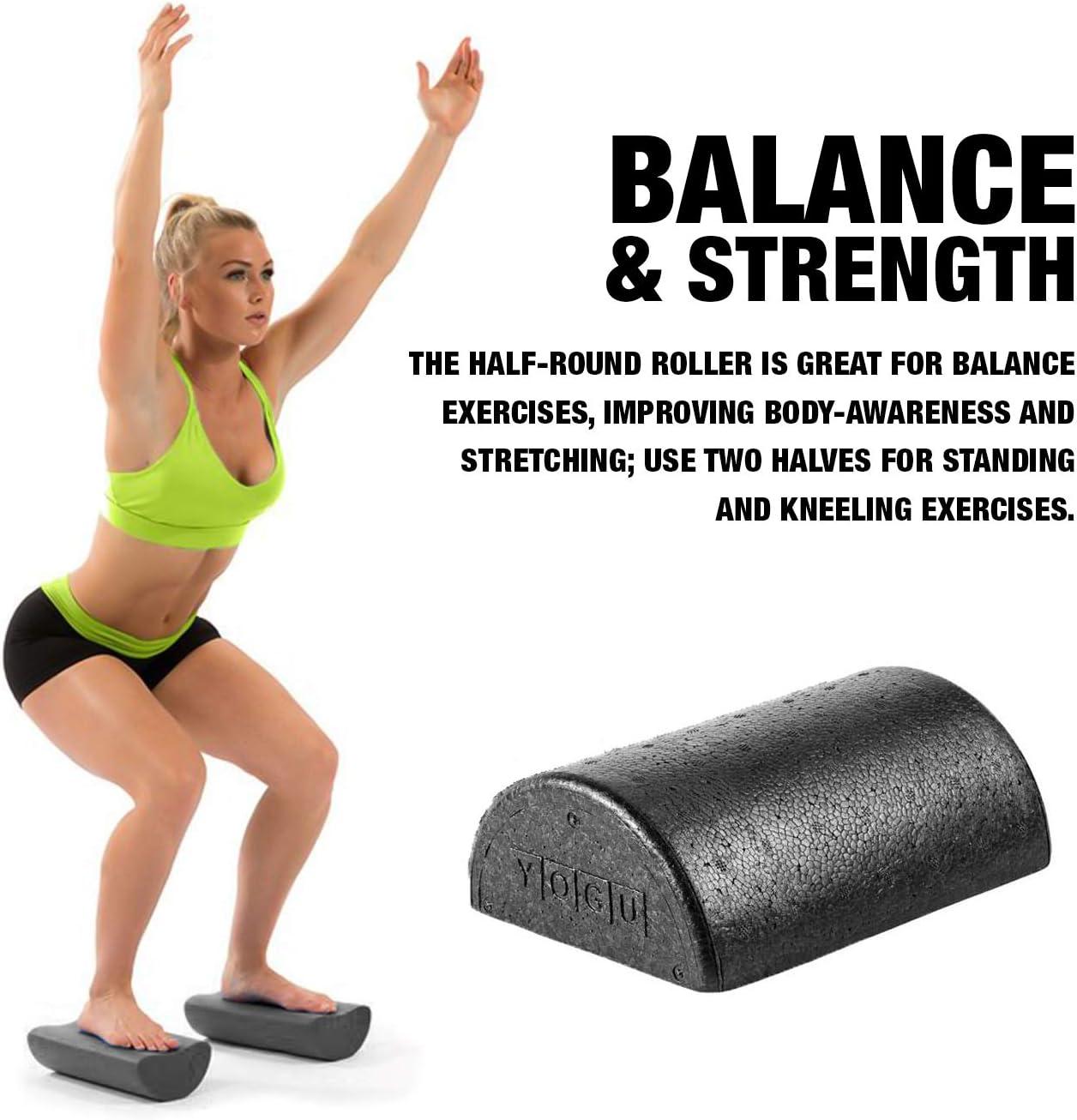 Yoga Foam Roller High Density Half Round Home Gym Exercise Fitness Equipment