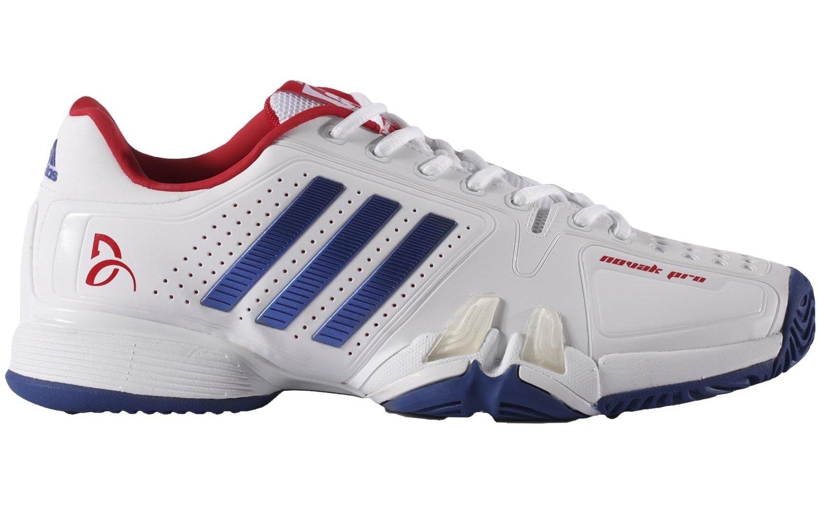 newest 7c4b7 8e1e0 Galleon - Adidas Barricade Novak Pro Men s Tennis Shoe White Blue Red (8.5)