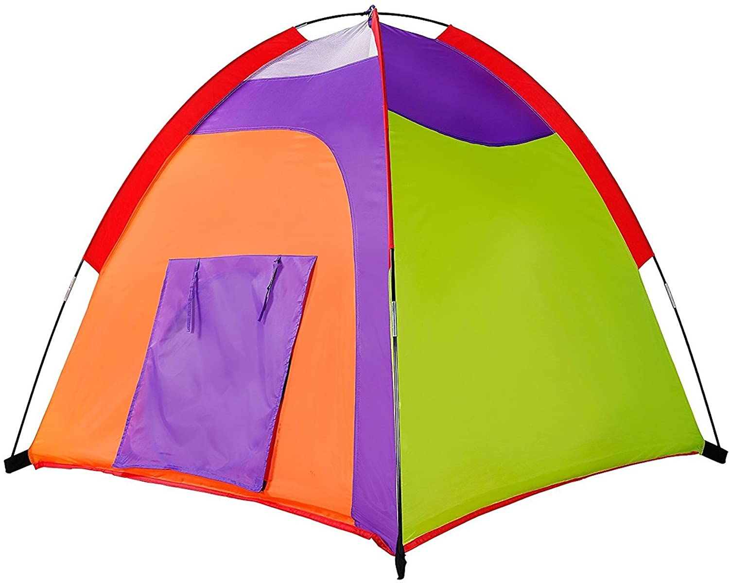 Alvantor Kids Tent Indoor Children Play Toy Toddler Pop up Outdoor Games Colourful Curvy Patent, Red, Orange,Purple,Green, 48
